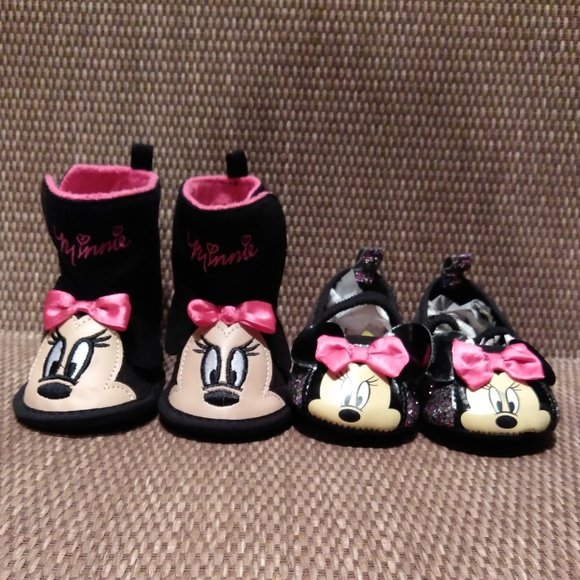 NWOT Disney Other - NWOT GIRL BUNDLE OF 2 - DISNEY BOOTS & SLIP ONS